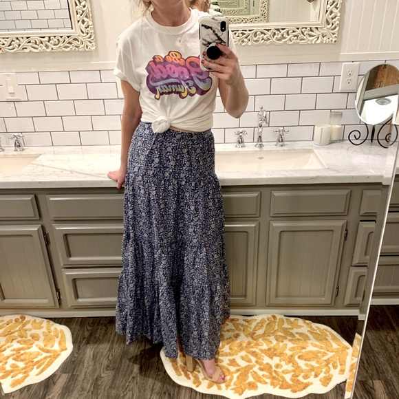 BANANA REPUBLIC Boho Maxi Skirt XS NWT